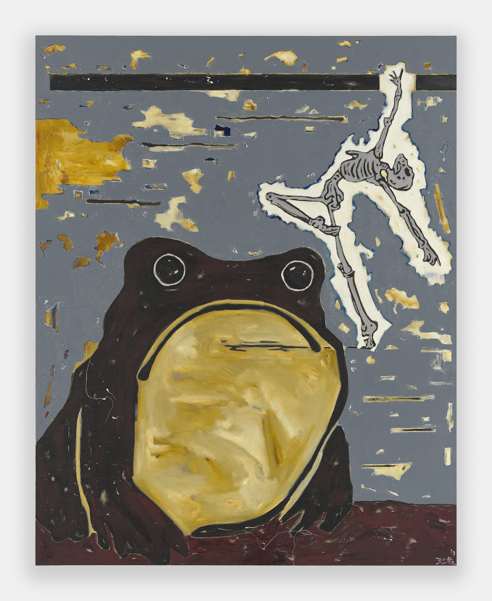 Death and the Toad (Der Tod und die Kröte), 2019, Werner Büttner: No Scene from My Studio, Simon Lee, London, 13 May– 10 June, 2021. All images courtesy of the artist and Simon Lee Gallery.