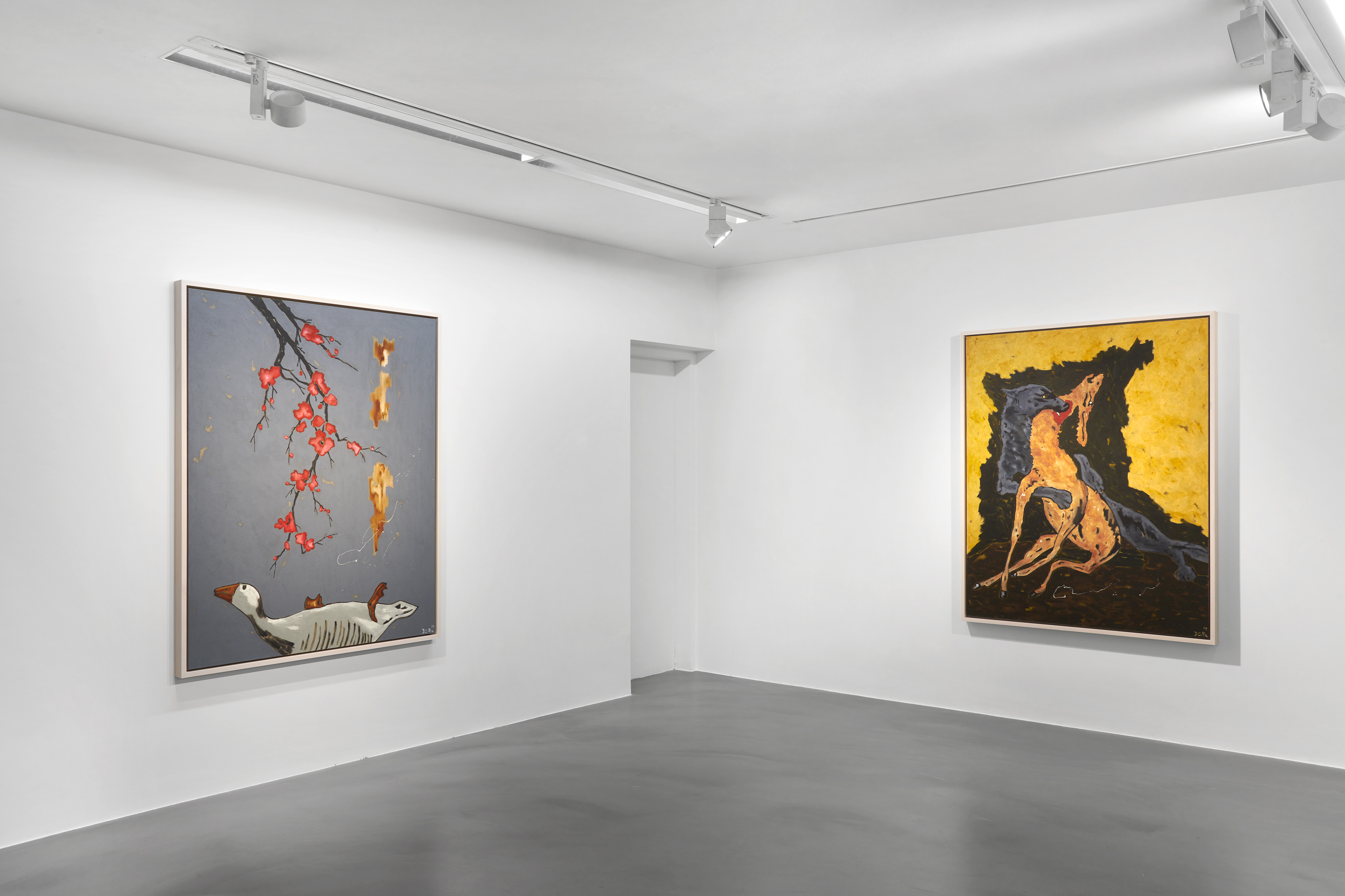 Installation view: Werner Büttner: No Scene from My Studio, Simon Lee, London, 13 May– 10 June, 2021. All images courtesy of the artist and Simon Lee Gallery.