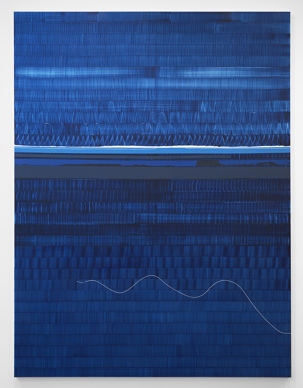 uan Uslé Soñé que revelabas (Hudson blue), 2021 Vinyl, dispersion, and dry pigment on canvas 120.1 x 89.75 inches (305 x 228 cm) © Juan Uslé Courtesy Galerie Lelong & Co.