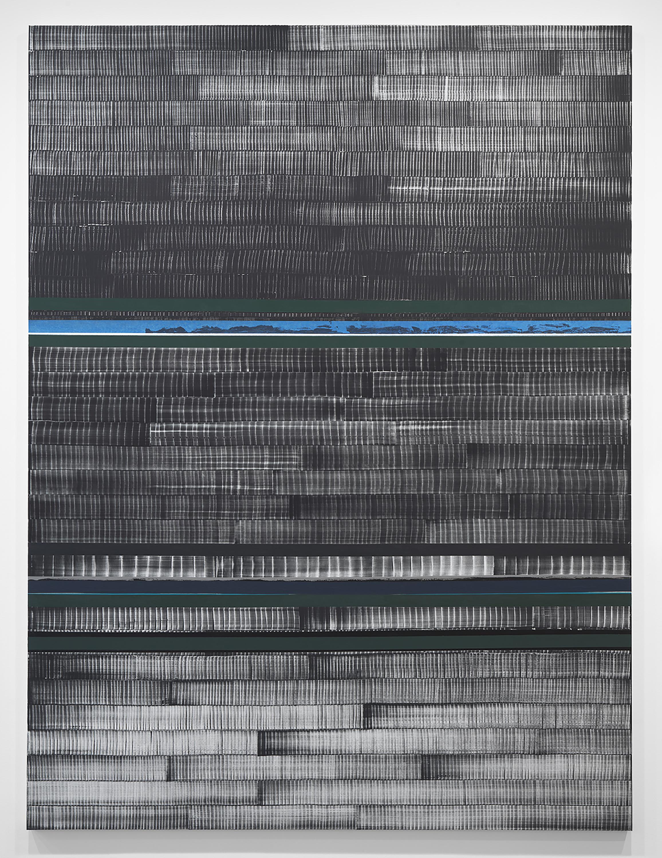 Juan Uslé Soñé que revelabas (Loire), 2021 Vinyl, dispersion, and dry pigment on canvas 120.1 x 89.75 in (305 x 228 cm) © Juan Uslé Courtesy Galerie Lelong & Co.