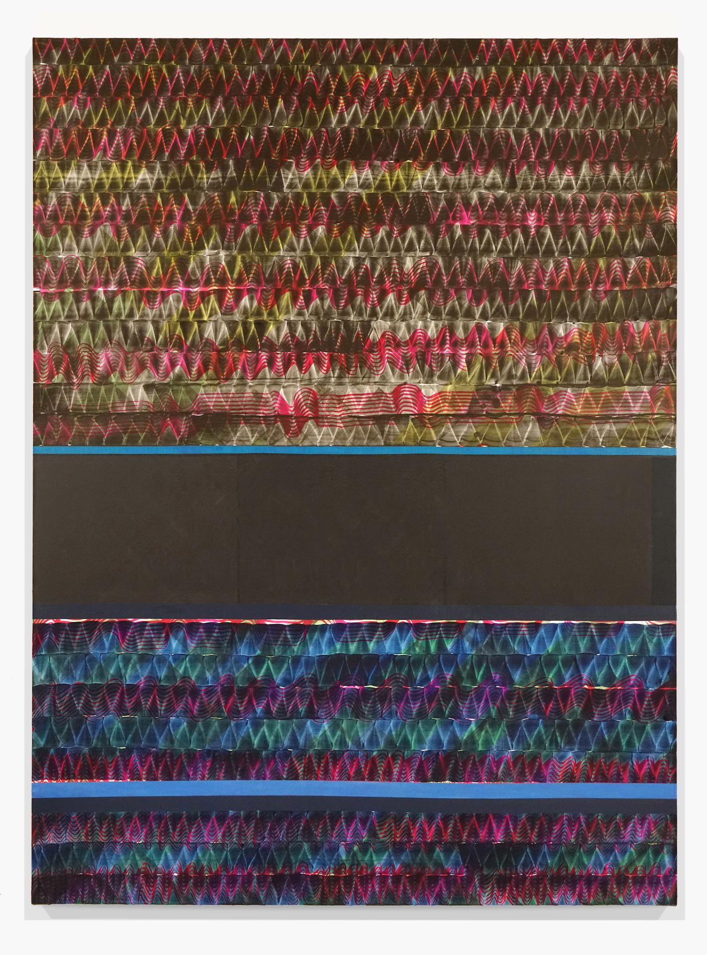 Juan Uslé Soñé que revelabas (Guadalquivir), 2019-20 Vinyl dispersion and dry pigment on canvas 108.3 x 79.9 inches (275 x 203 cm) © Juan Uslé Courtesy Galerie Lelong & Co.