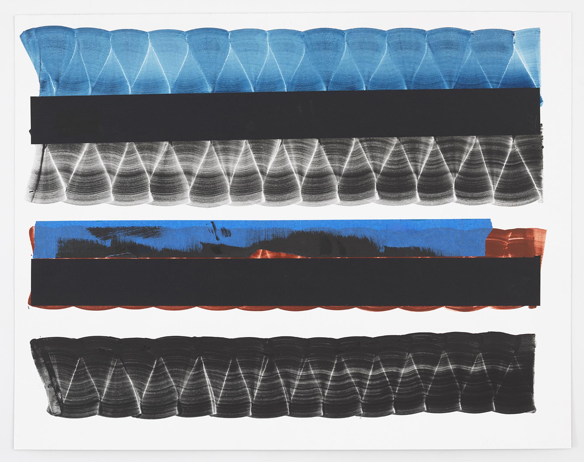 Juan Uslé Notes on SQR, 2020 Mixed media on paper 22x28inches(56x71cm) © Juan Uslé Courtesy Galerie Lelong & Co.