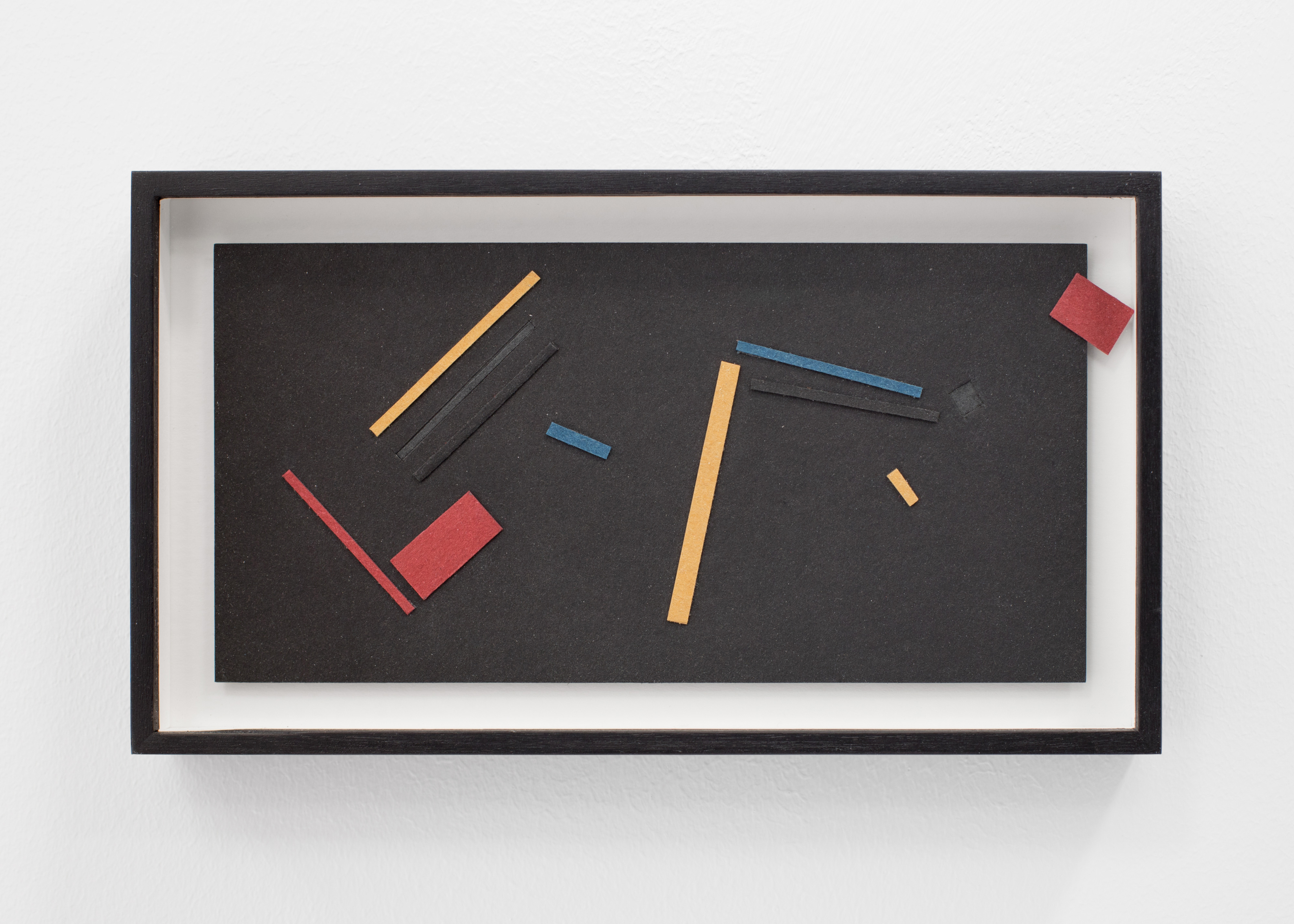IRMA ÁLVAREZ LAVIADA S.T (Composición en rojo, azul y amarillo sobre negro 1), 2021, Irma Álvarez-Laviada: TODO SE PARECE A ALGO , L21, 14 May – 23 June. Courtesy: L21 Gallery