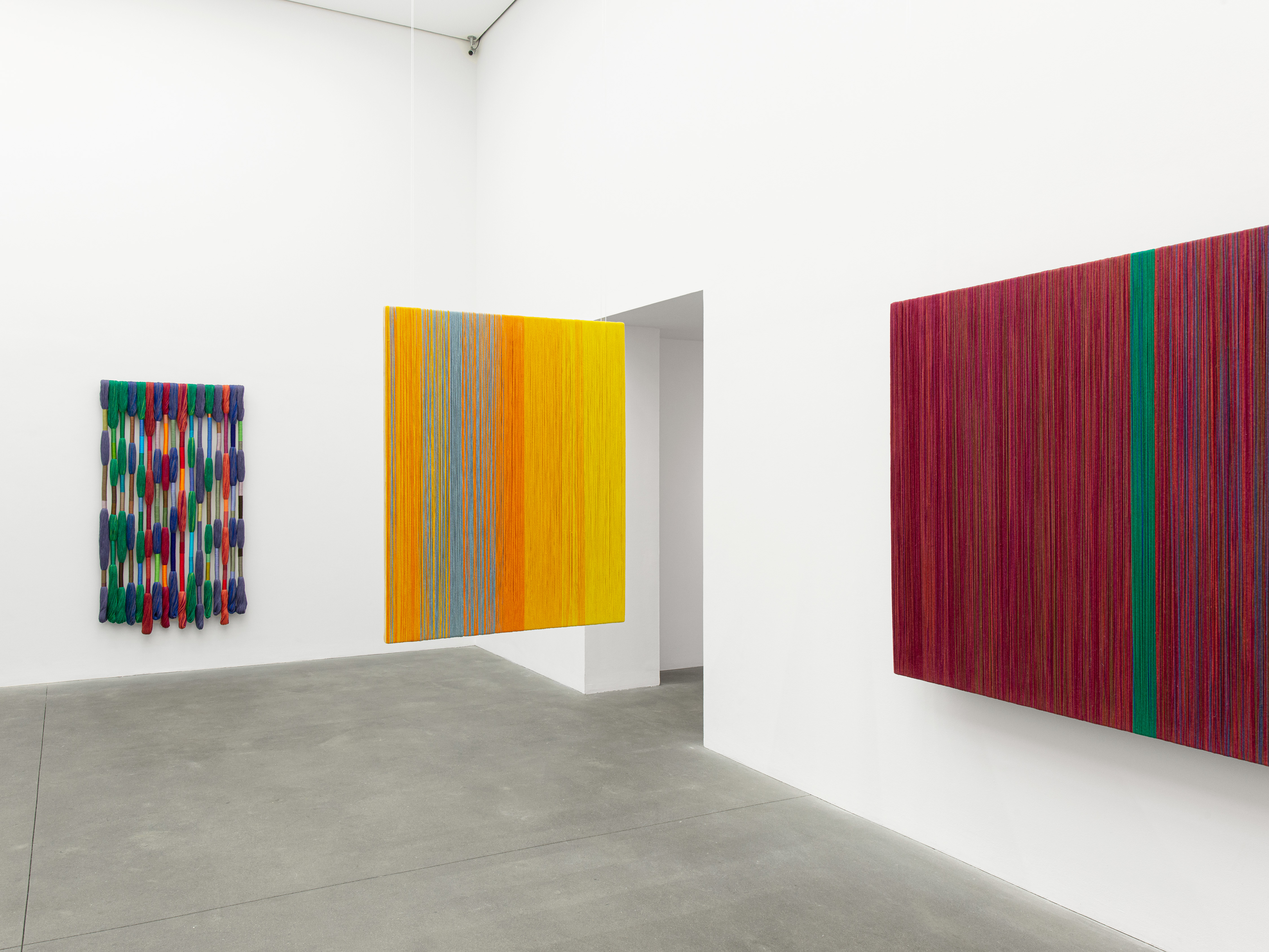 Installation view: SHEILA HICKS: MUSIC TO MY EYES, Alison Jacques, 4 June–31 July 2021. Courtesy: © Sheila Hicks