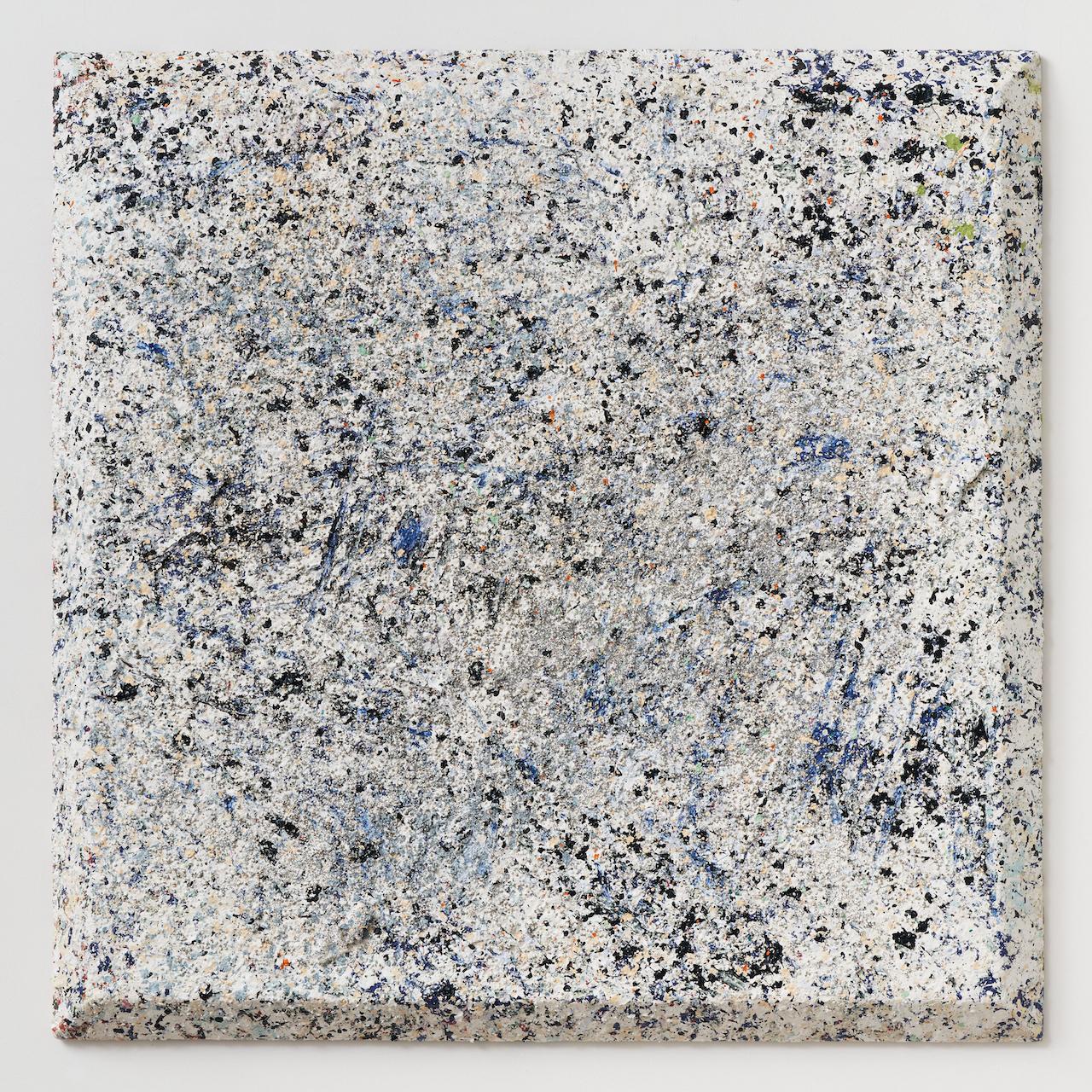 "Sam Gilliam No Change, 2021 acrylic on canvas, bevel-edge 48"" × 48"" × 3-1/4"" (121.9 cm × 121.9 cm × 8.3 cm). Sam Gilliam 2-3/F, 267 Itaewon-ro, Yongsan-gu, Seoul May 27 – July 10, 2021. Photography courtesy of Pace Gallery."