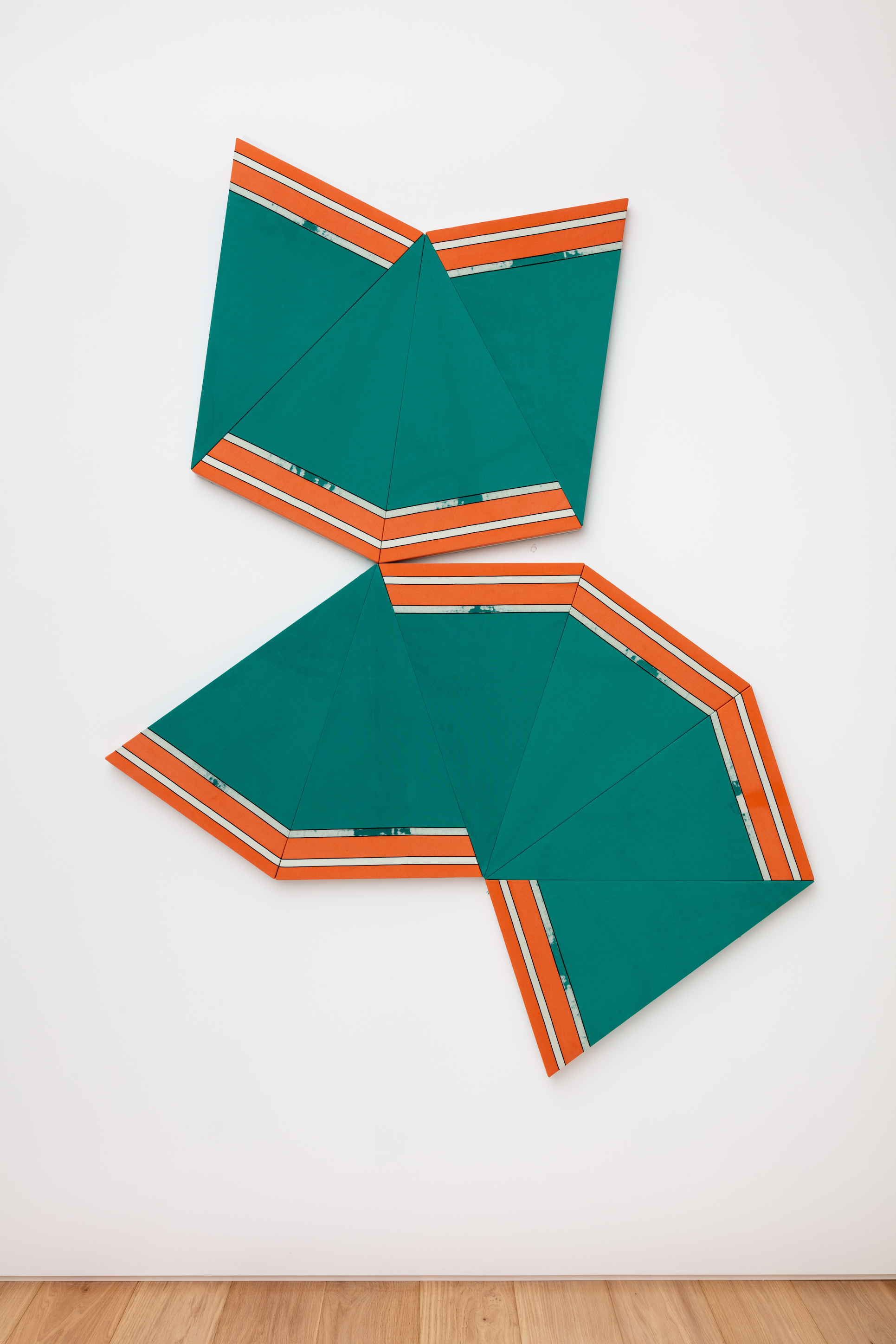 Alek O. Tangram (Lying Down Cat), 2015 Stretched synthetic fabric from a parasol 224 x 170 cm
