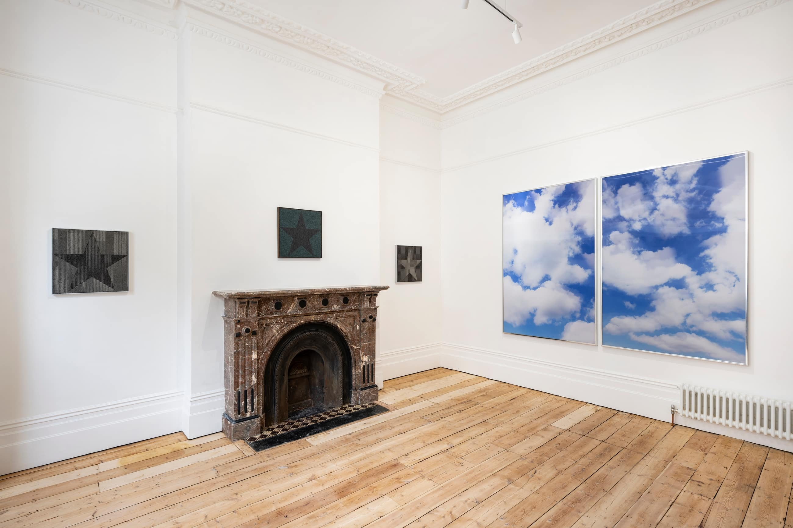 Installation view, 'Mimi Hope. Stars and Skies', 24 June – 1 August 2021, Alex Vardaxoglou, London. Courtesy the artist and Alex Vardaxoglou. Photograph: Damian Griffiths.