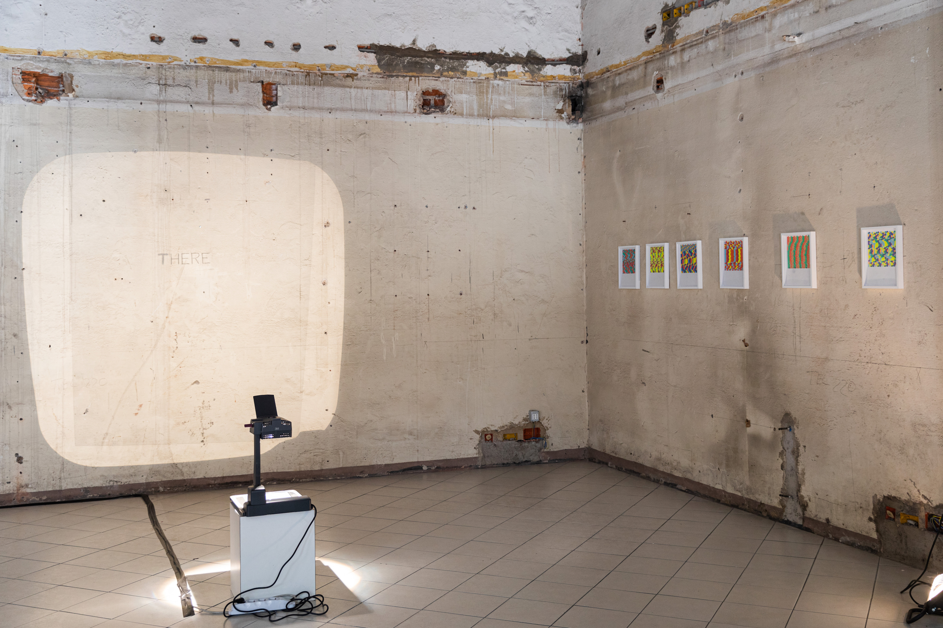 Exhibition view of 'Altri echi'. Photography by Lucrezia Costa