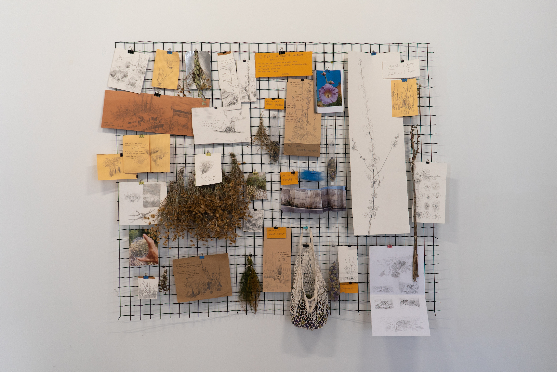 Christian Sleiman, A Seasonal Ritual, 2021, Mixed media installation, 150 cm * 180 cm © Dimitri Nassar, Courtesy of Galerie Tanit