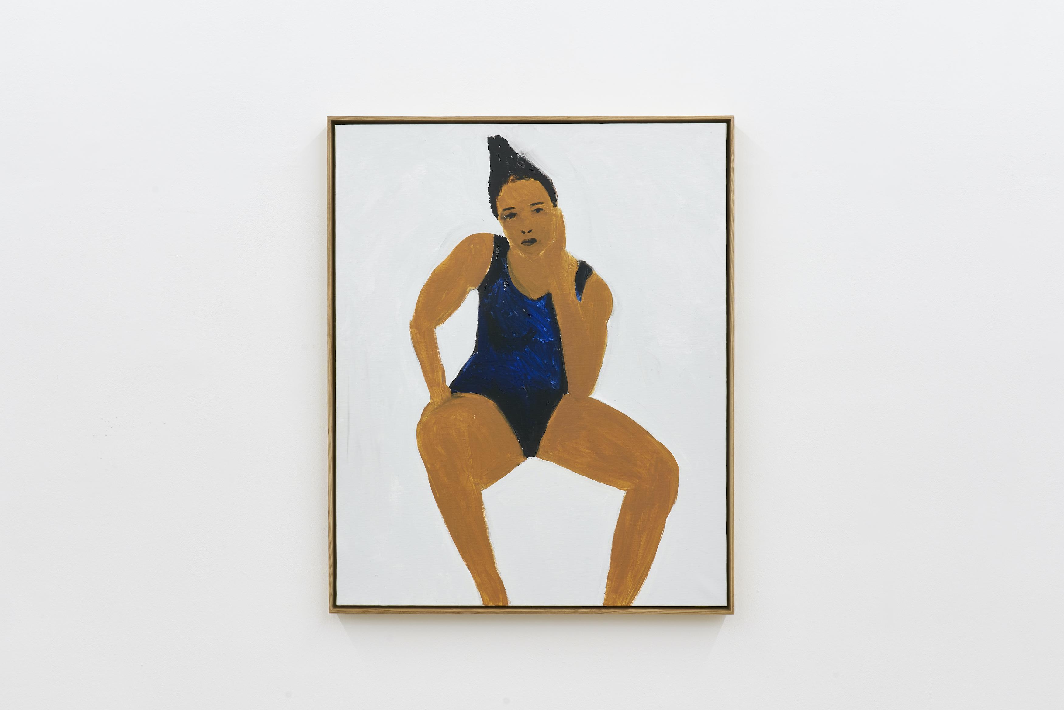 Gregory Olympio, Victory, 2021, Acrylic on canvas, 100 x 81 cm.