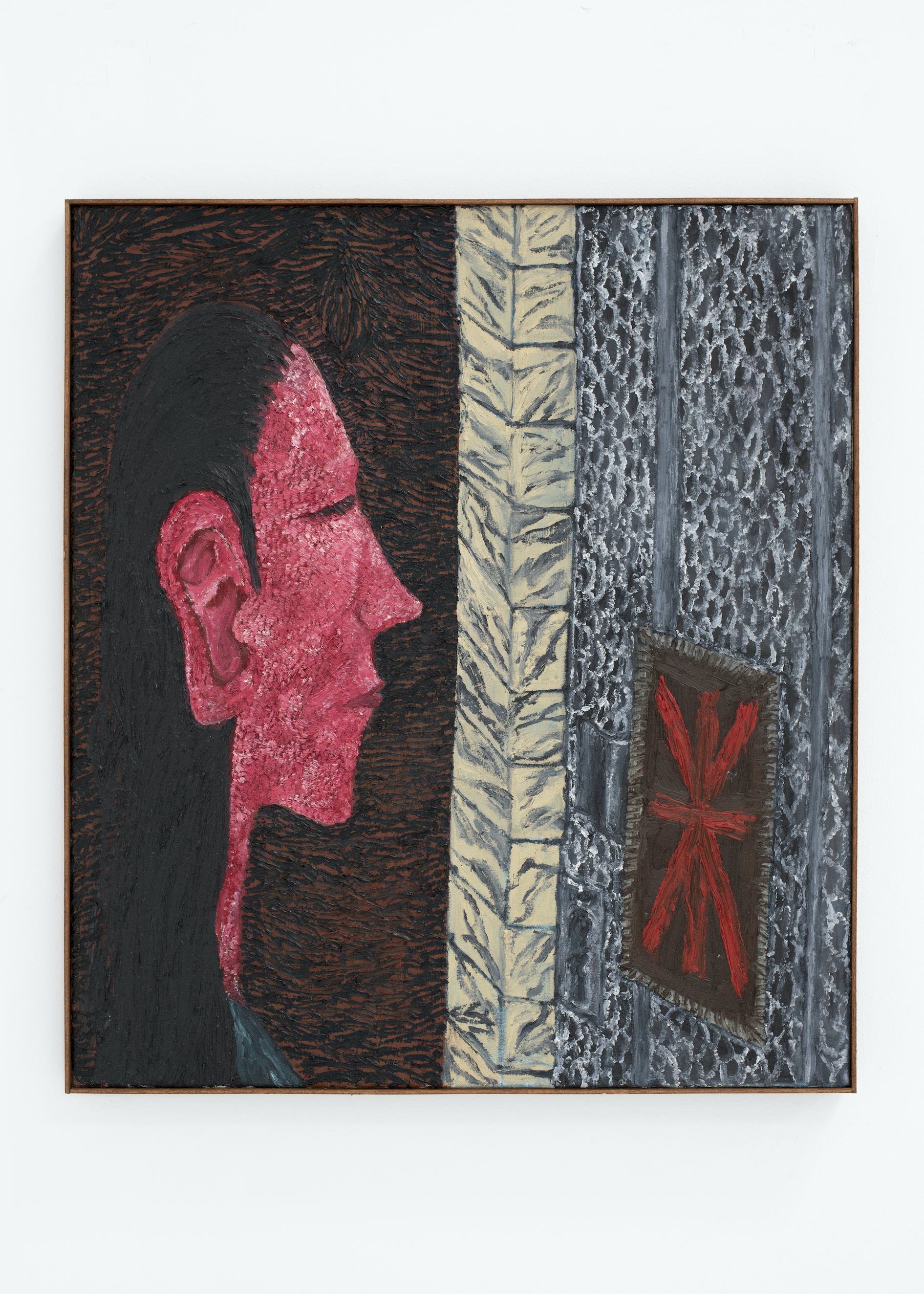 STEVIE DIX The door to Oostlaan Number 58, 2021 Oil and beeswax on canvas. Óleo y cera sobre lienzo. 85 x 75 cm