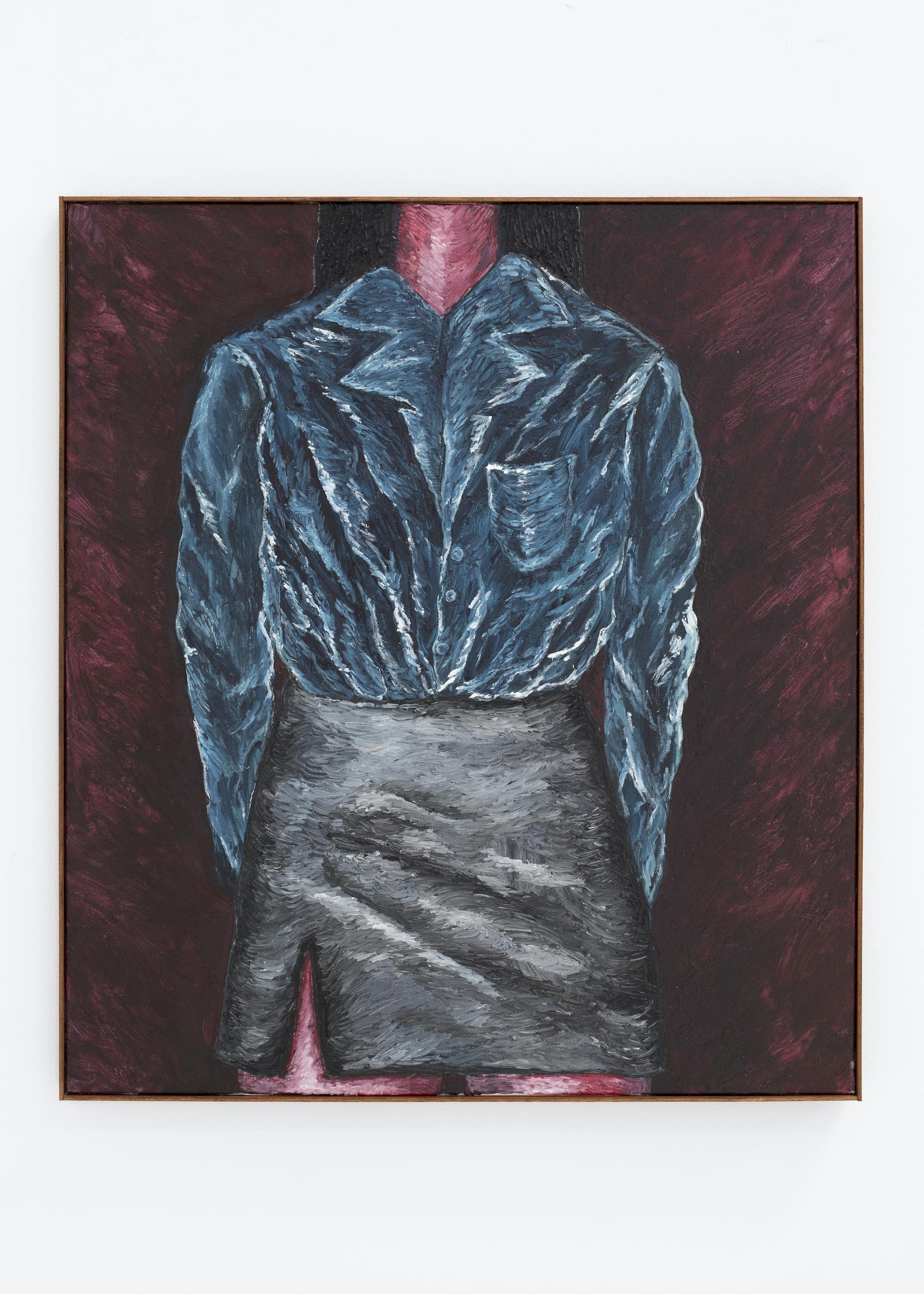 STEVIE DIX Burning ears, 2021 Oil and beeswax on canvas. Óleo y cera sobre lienzo. 90 x 80 cm