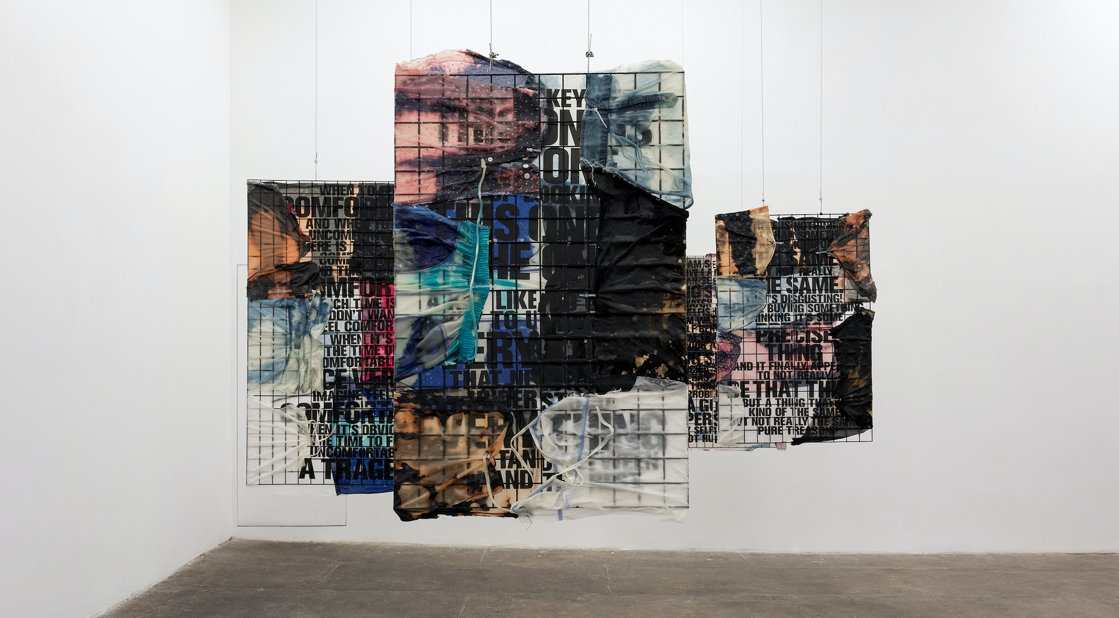 Ndayé Kouagou, installation view at T293, Rome, 18 June - 6 August 2021. Photo by Daniele Molajoli. Courtesy of the artist and T293, Rome.