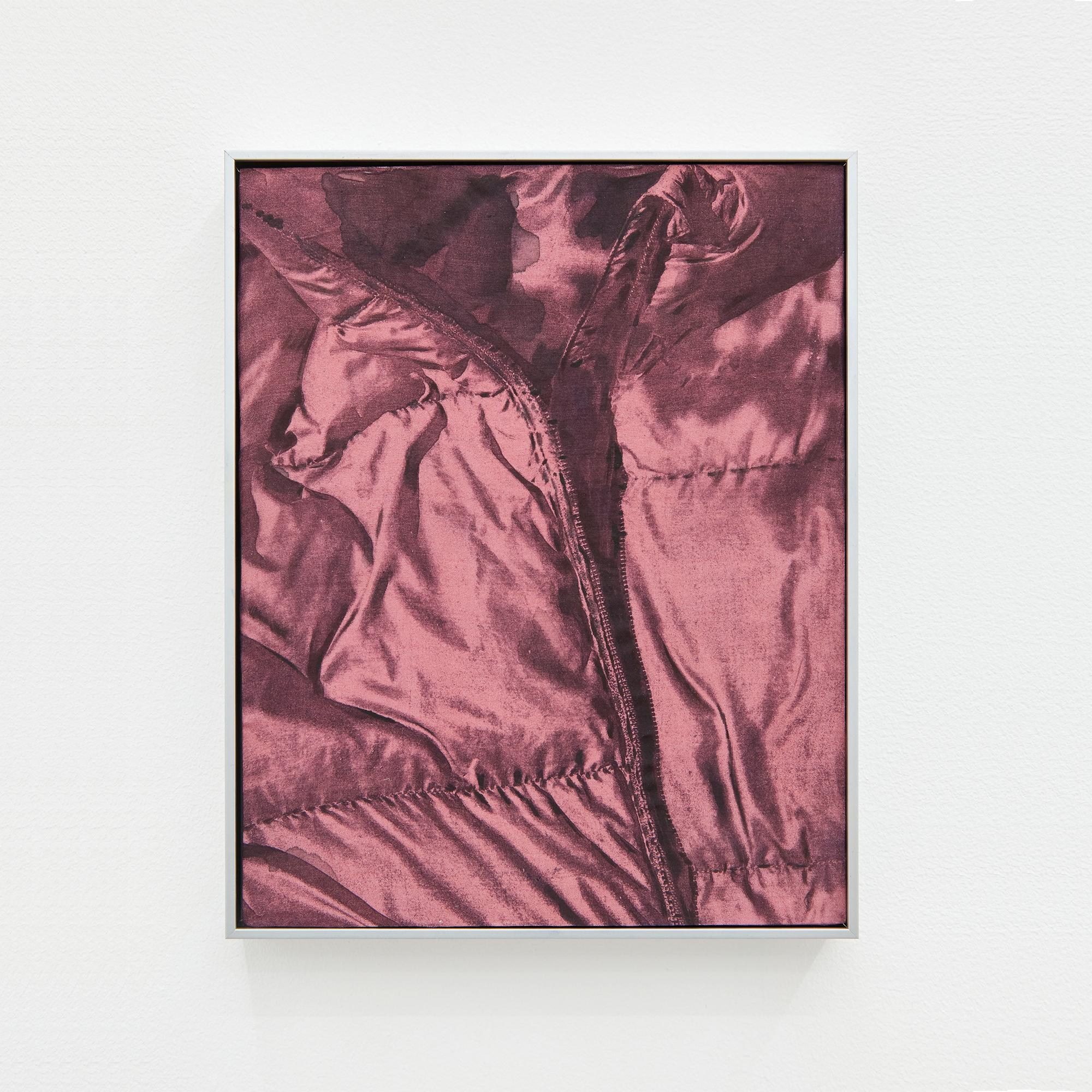 Warm/Wild, 2021. Oil and watercolour on dyed silk, aluminium frame, 23 x 17 cm
