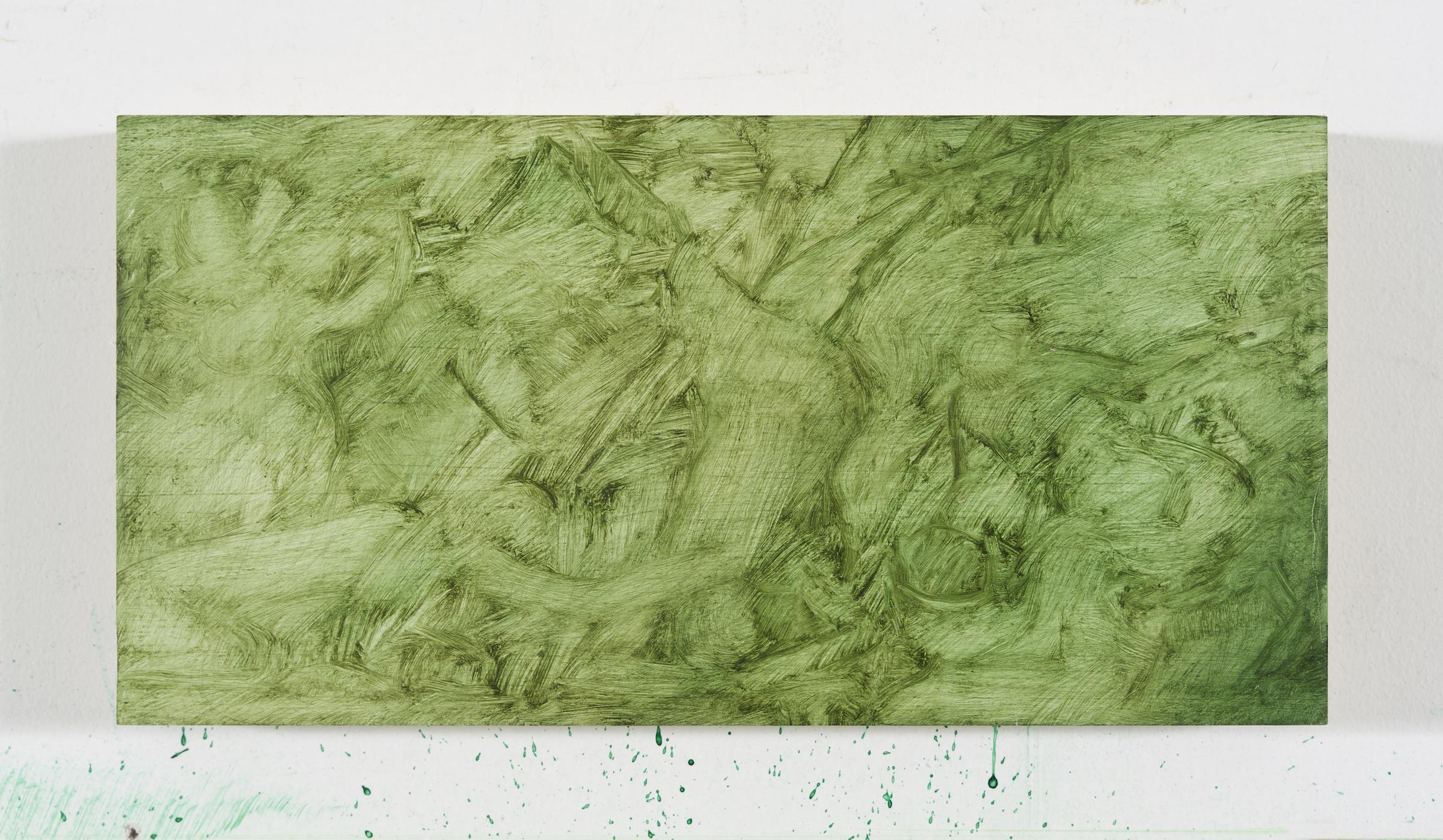 Brook Hsu 'Study of Titian ́s Flaying of Marsyas', 2021, oil on wood, 14 x 27.9 x 1.9 cm. Photo: Stephen Faught, Courtesy the artist; Kraupa - Tuskany Zeidler, Berlin