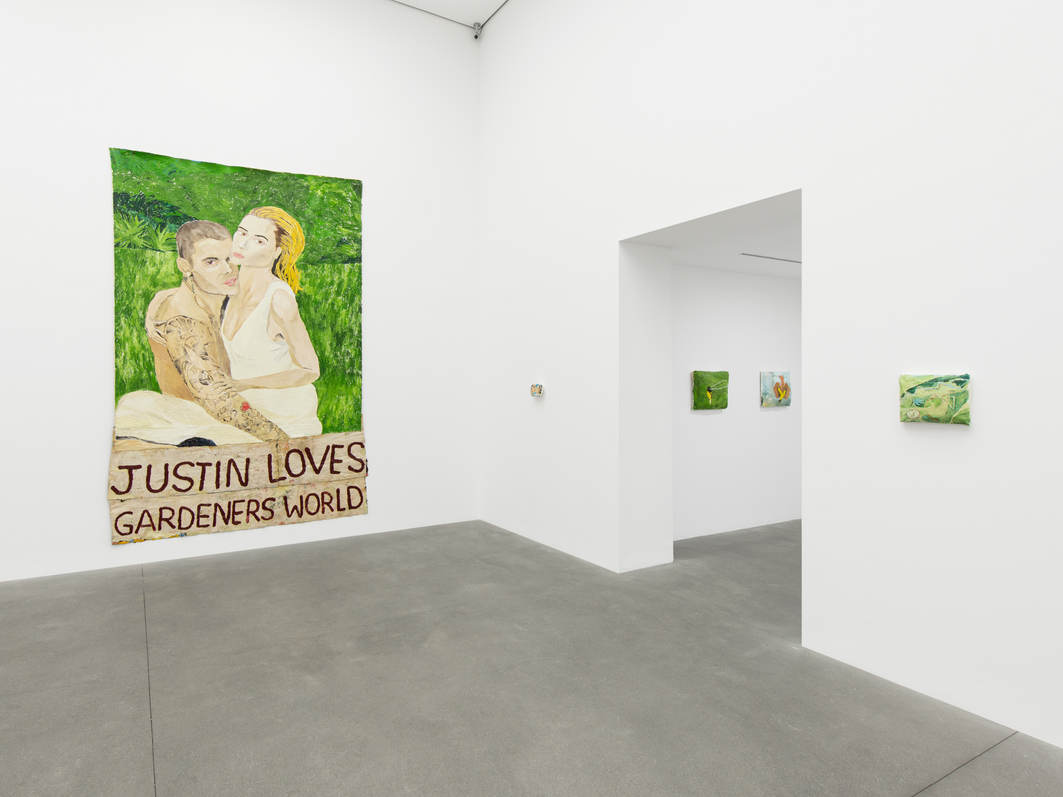 Installation View - 'How Much Love Can a Love Bird Love, Can a Love Bird Love a Love Bird', 2021, London, courtesy of Alison Jaques and the artist.