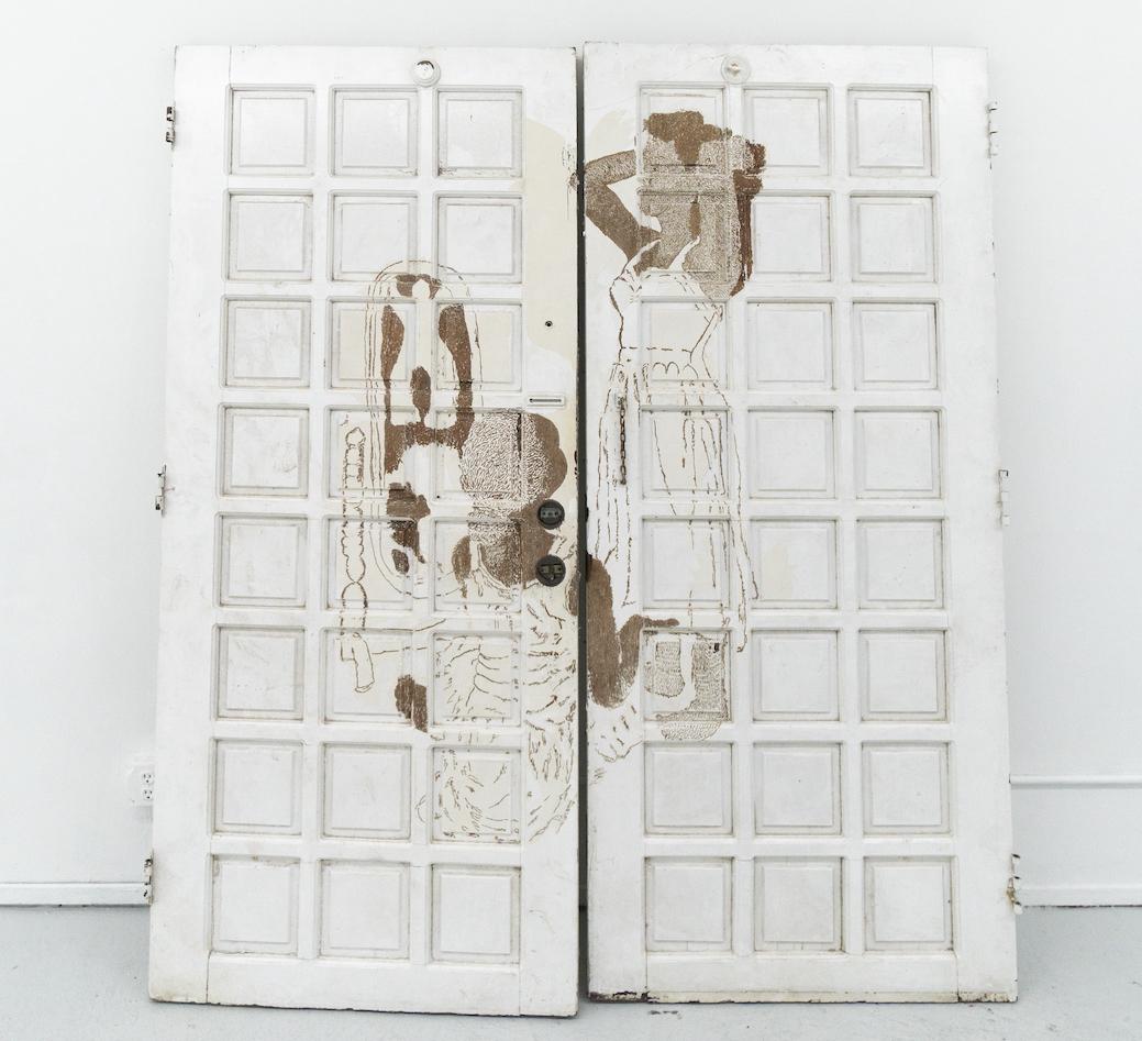 Bri Williams, 'Gate' (2021), doors, 82 x 72 x 2 inches. Images courtesy of Et al.