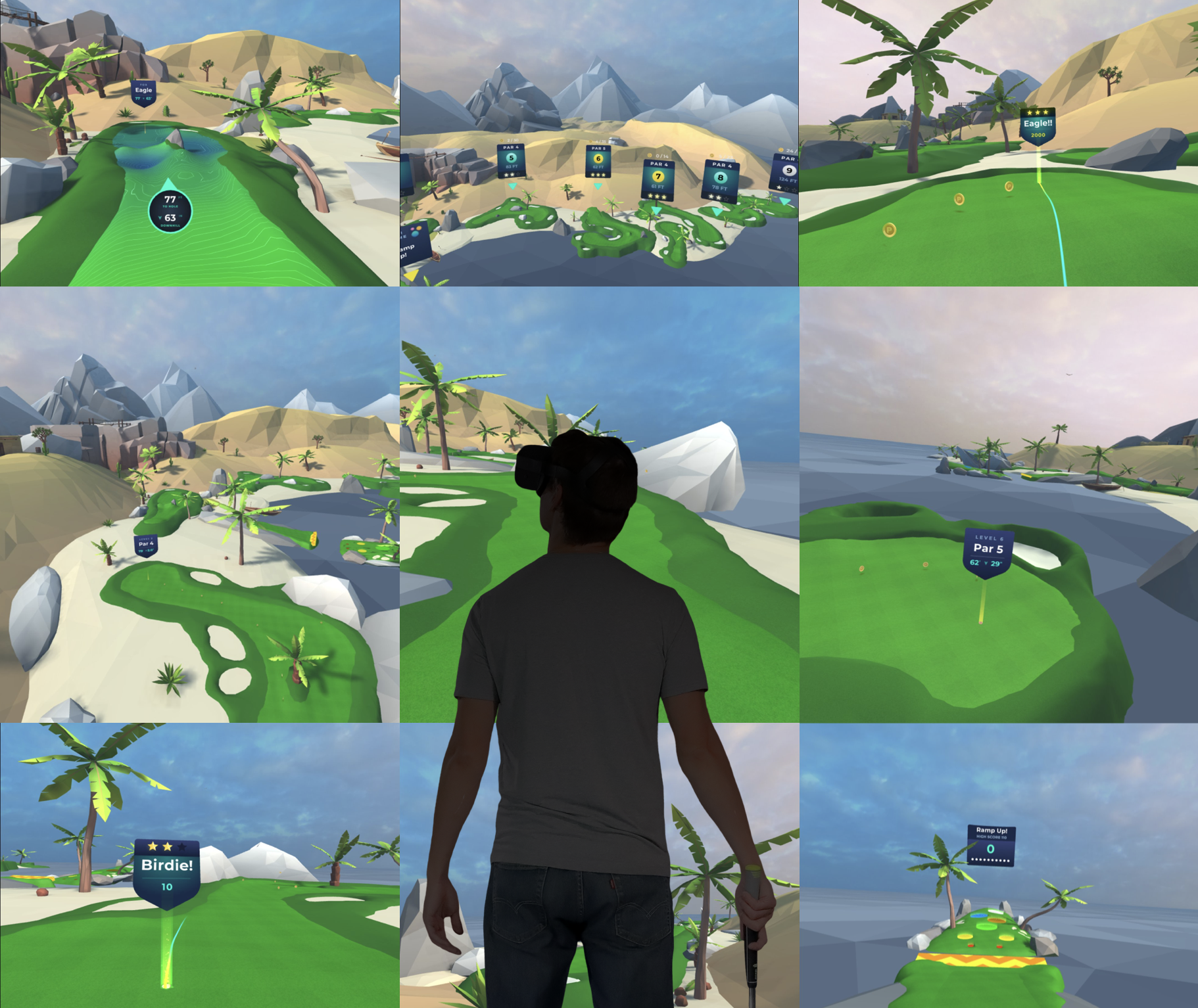 Beta Features 9 Levels of Putting Challenges on the beach plus a mini-game.