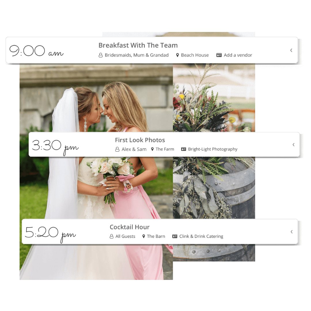 Examples of timeline events added