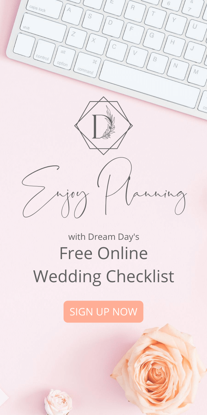 Sign up to create your free online wedding checklist