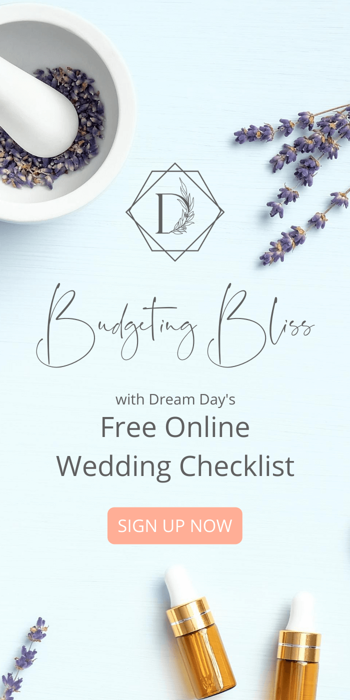 Sign up to create your free online wedding budget