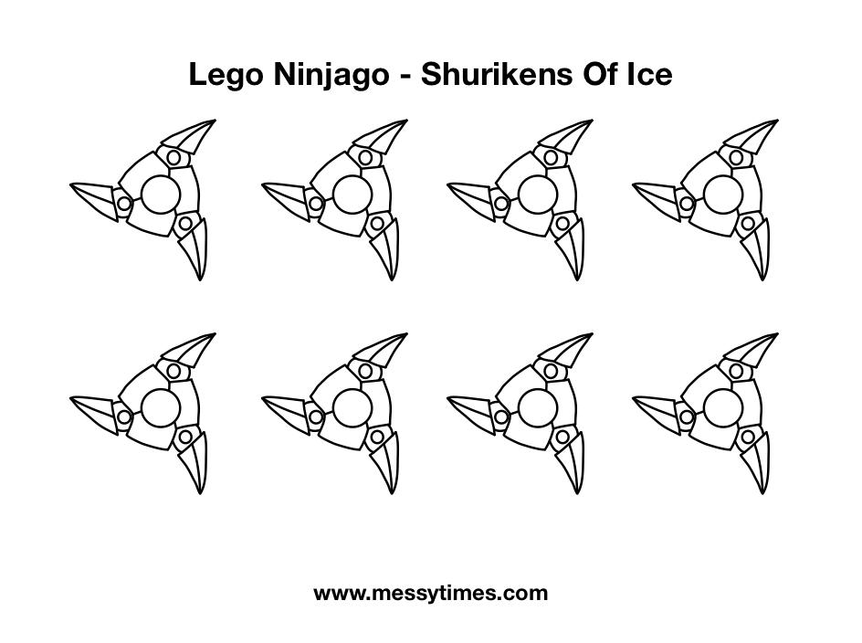 Lego Ninjago Weapon - Shurikens of Ice