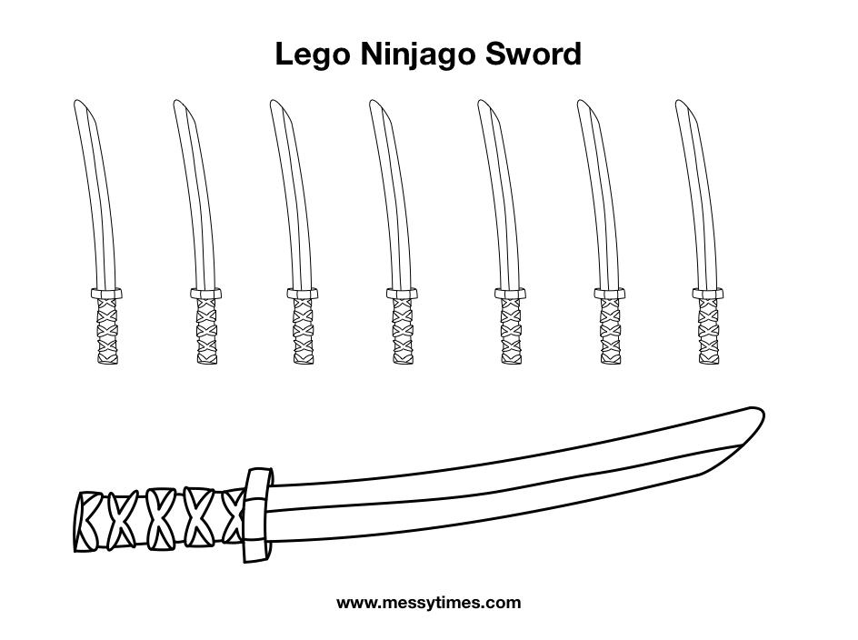Lego Ninjago Weapon - Sword of Fire