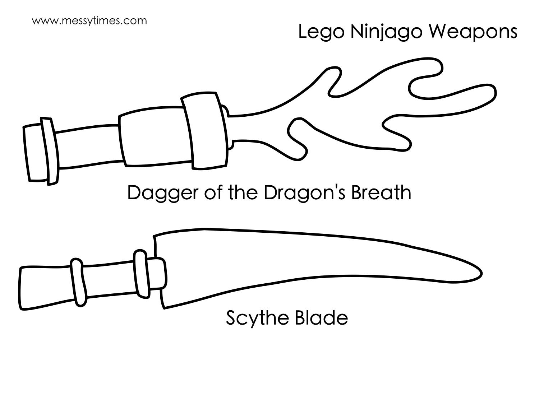 Lego Ninjago Weapon - Dagger of the Dragon's Breath and Scythe Blade