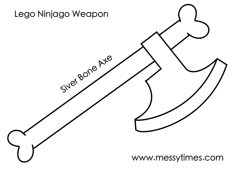 Lego Ninjago Weapon - Silver Bone Axe
