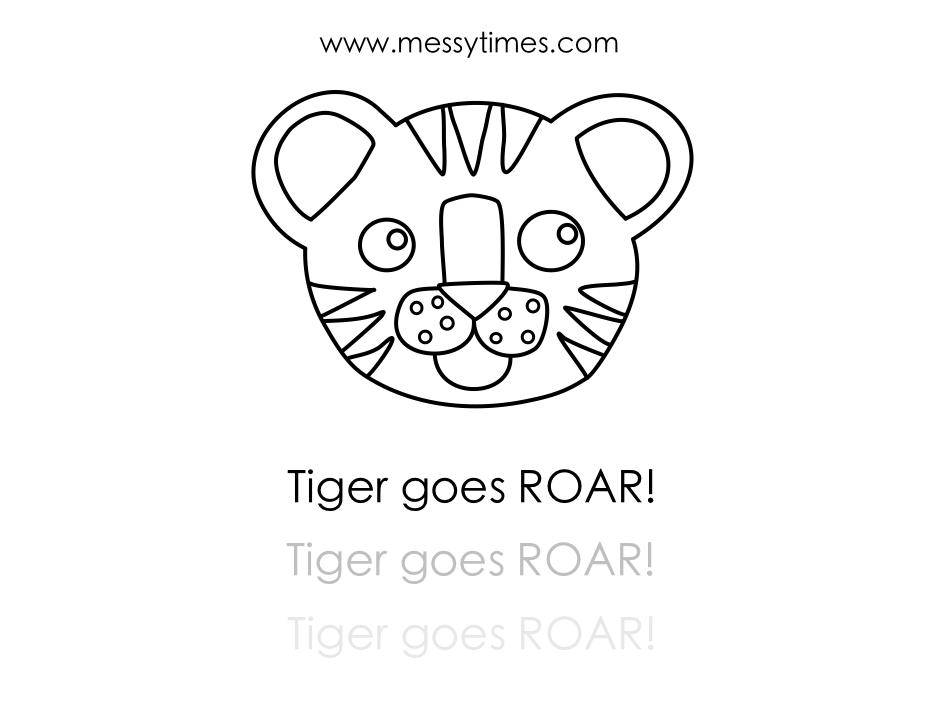 Tiger goes roar! Printable