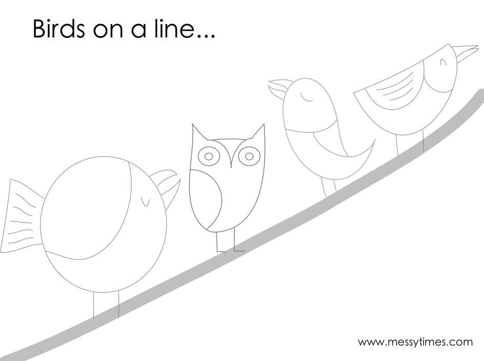 Birds on a tree printable