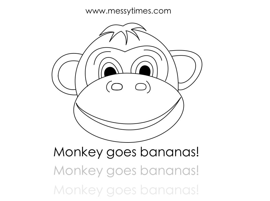 Monkey goes Bananas Pritnable