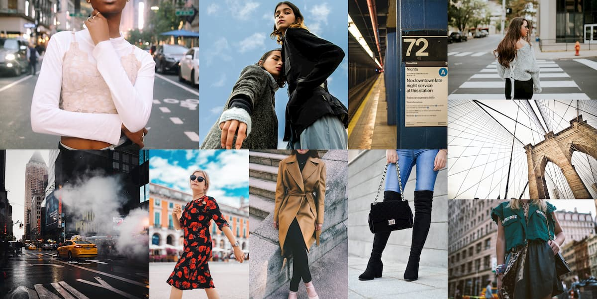 City Mood board fashion