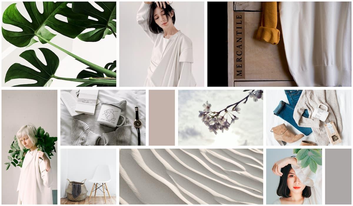 Minimalist Fashion Mood board