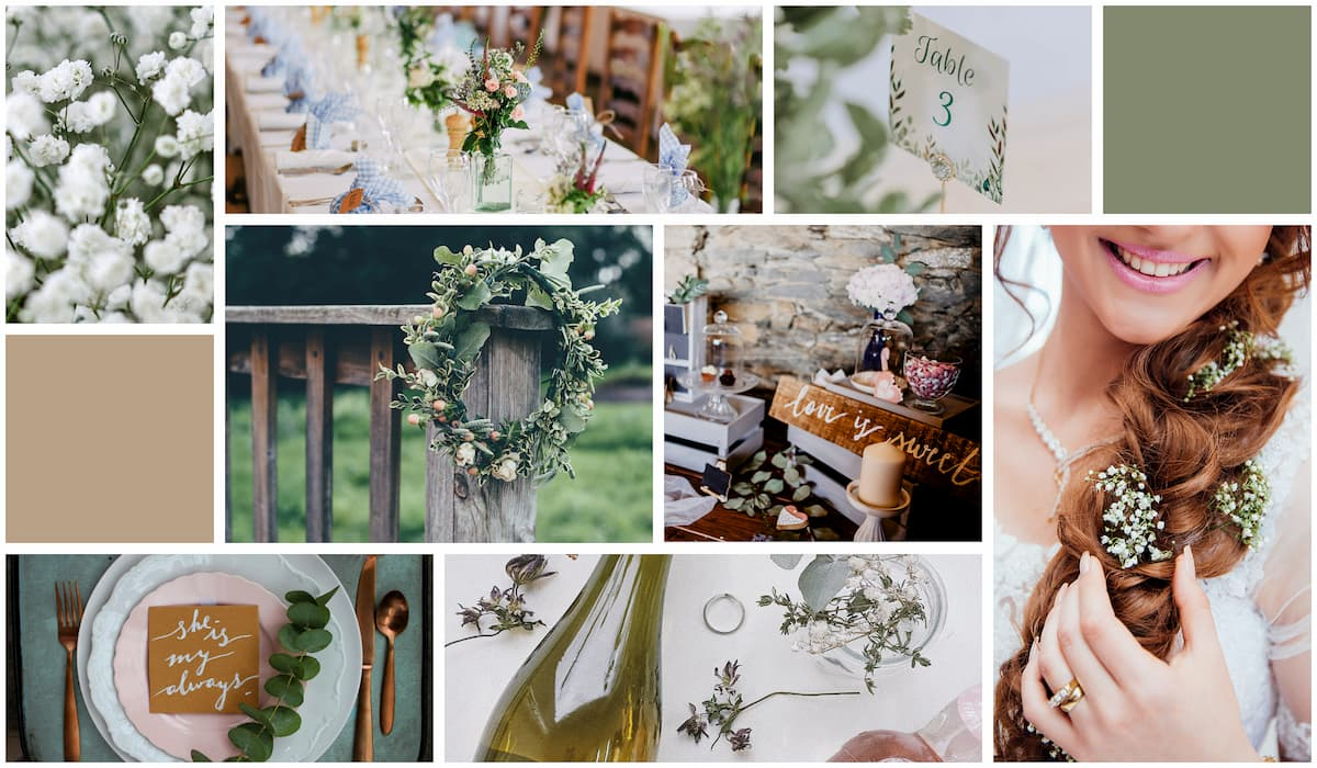 Boho Wedding Mood board