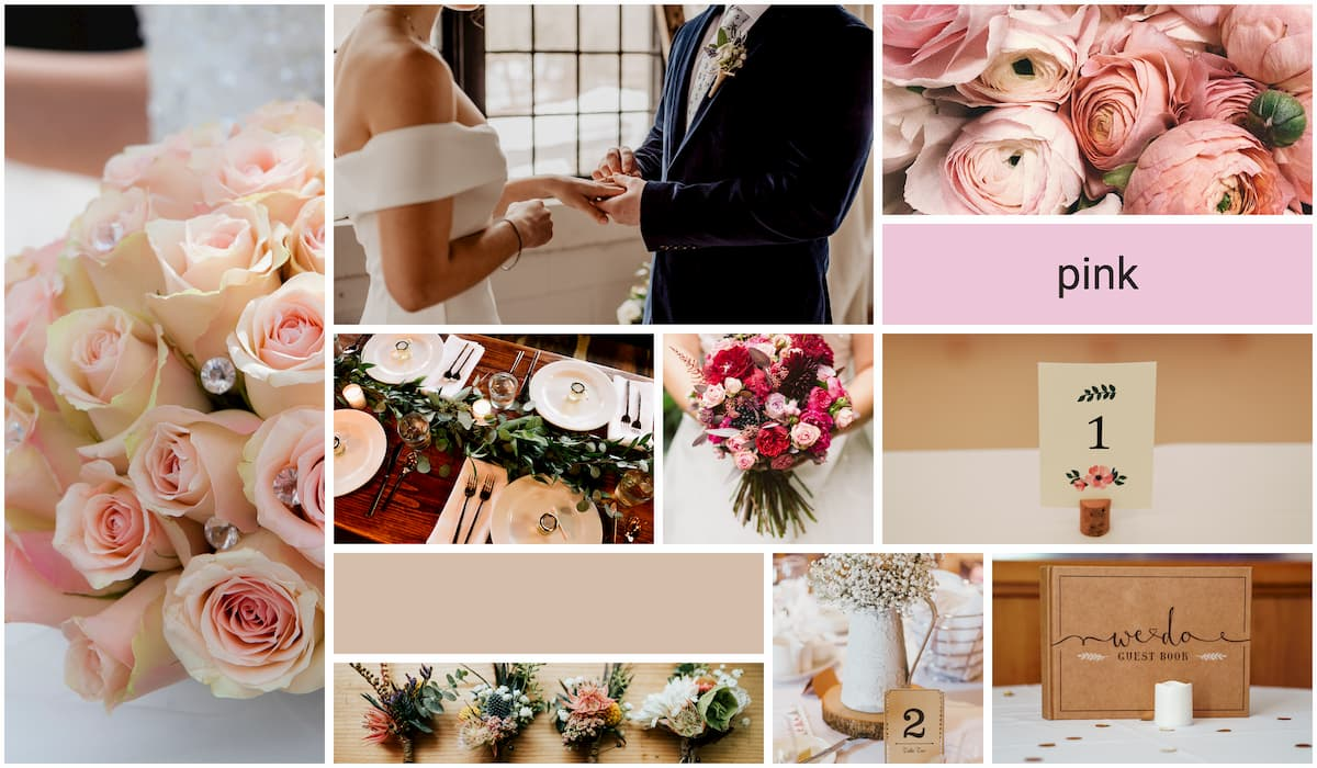 Pink Wedding Mood board