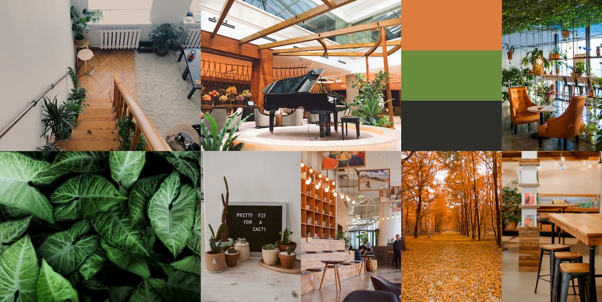 Orange & Green Mood board