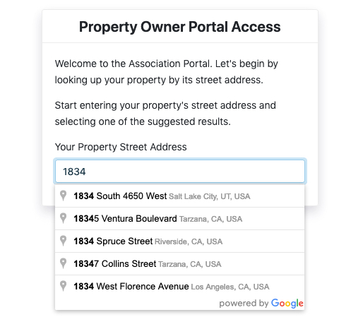 Secure property owner login, no password required