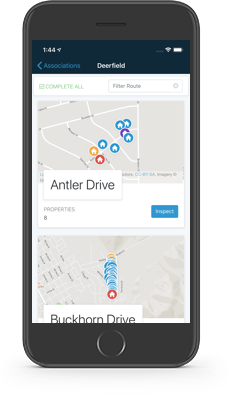 HOALife Inspector App viewing Routes