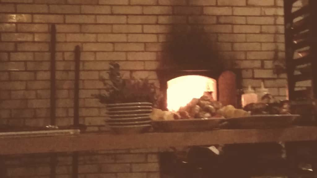 Nothing like the old coal oven to offer ambiance.