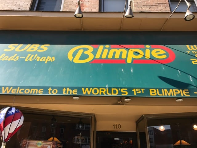 The World's First Blimpie.