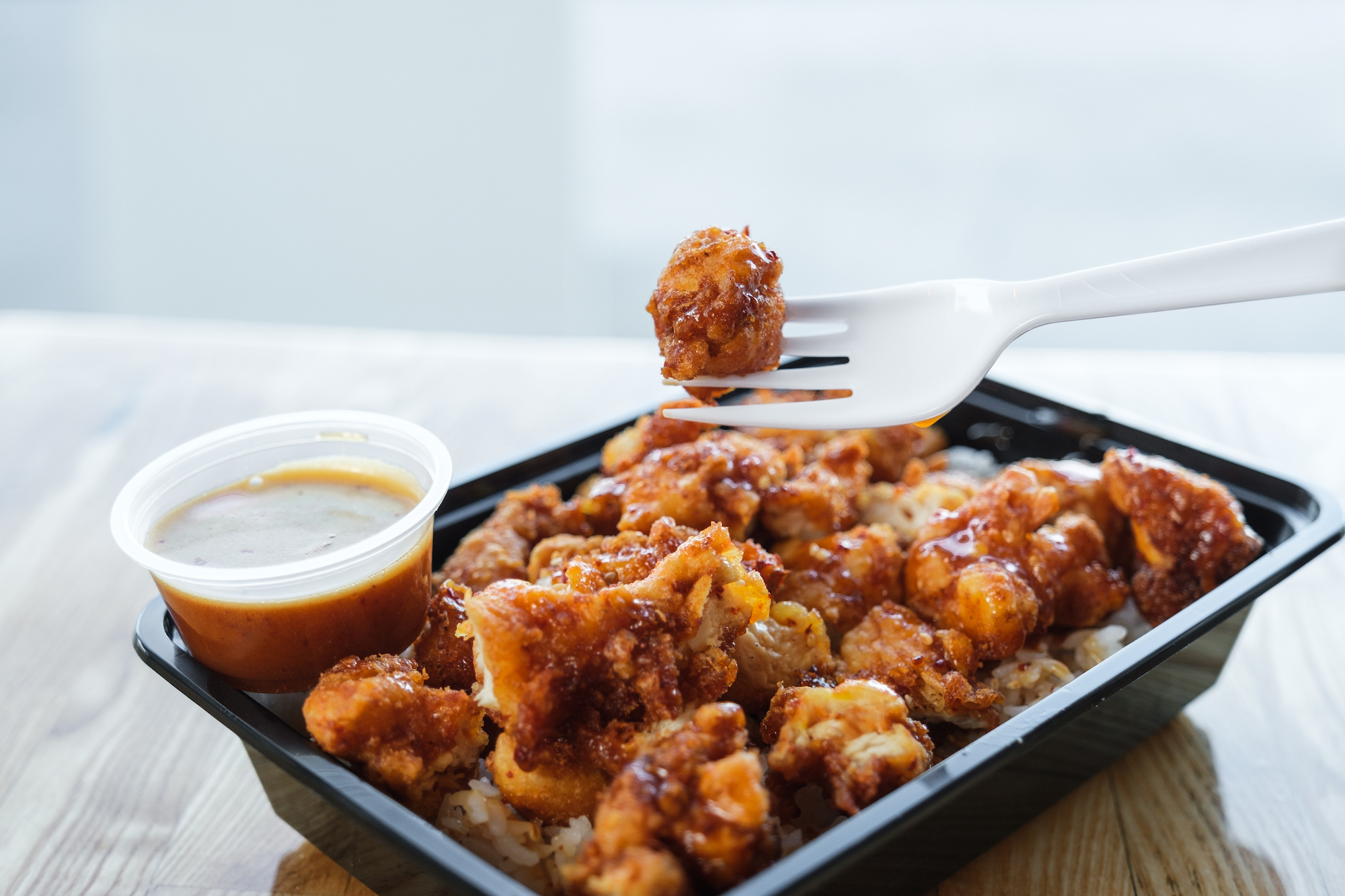 Kikku's most popular dish; Spicy Crispy Chicken