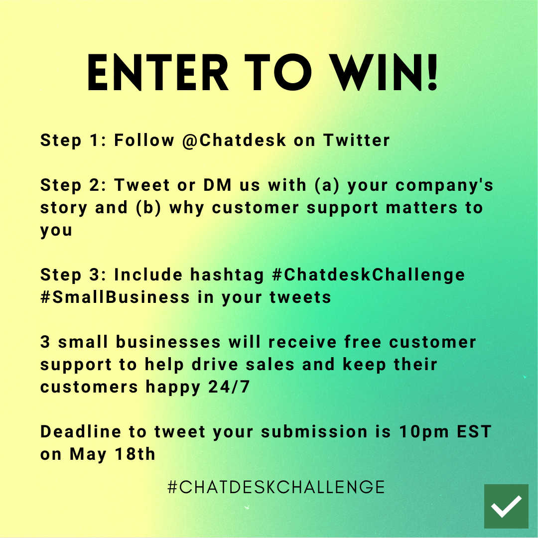 Chatdesk small business competition instructions