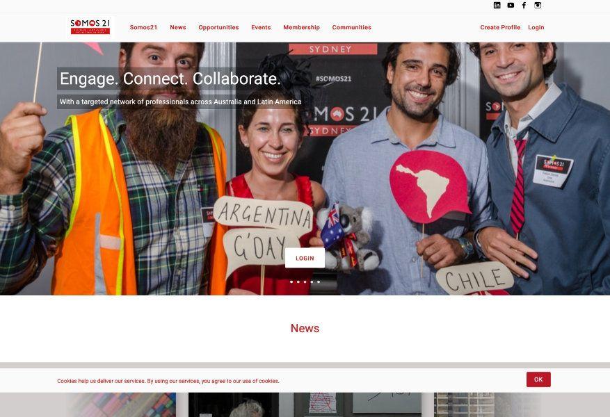 Somos21 old homepage