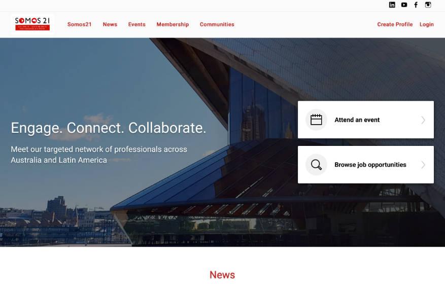 Somos21 new homepage