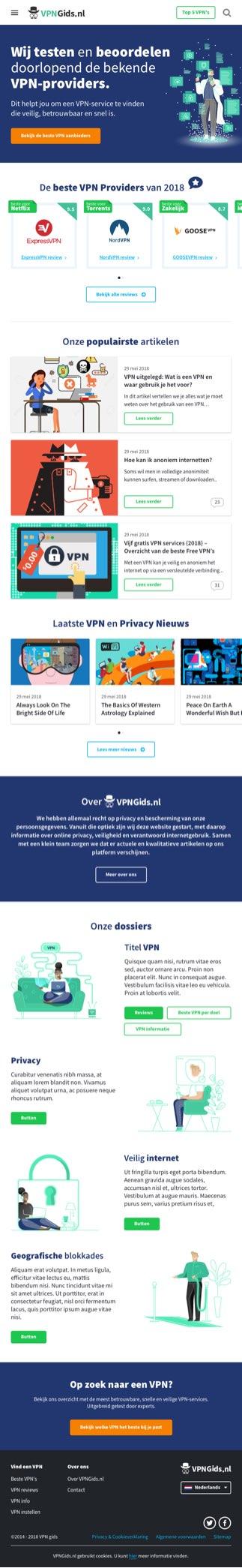 VPNGids.nl Responsive Tablet