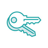 Icon of two keys overlapping