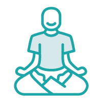 Icon of a person seated in a meditative pose