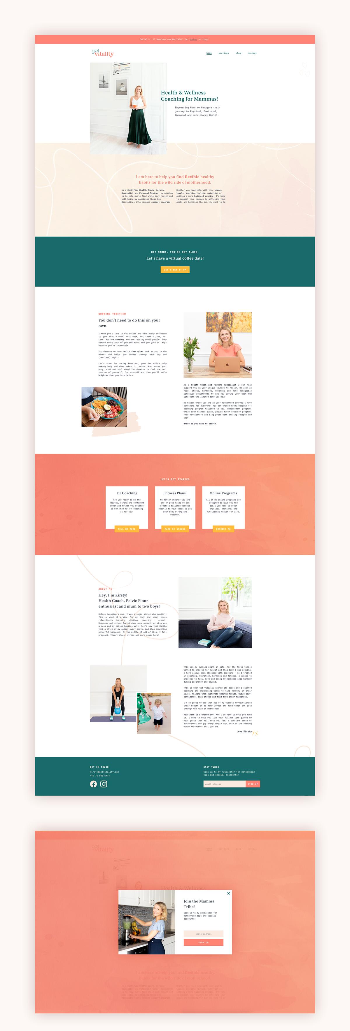 Got Vitality homepage design