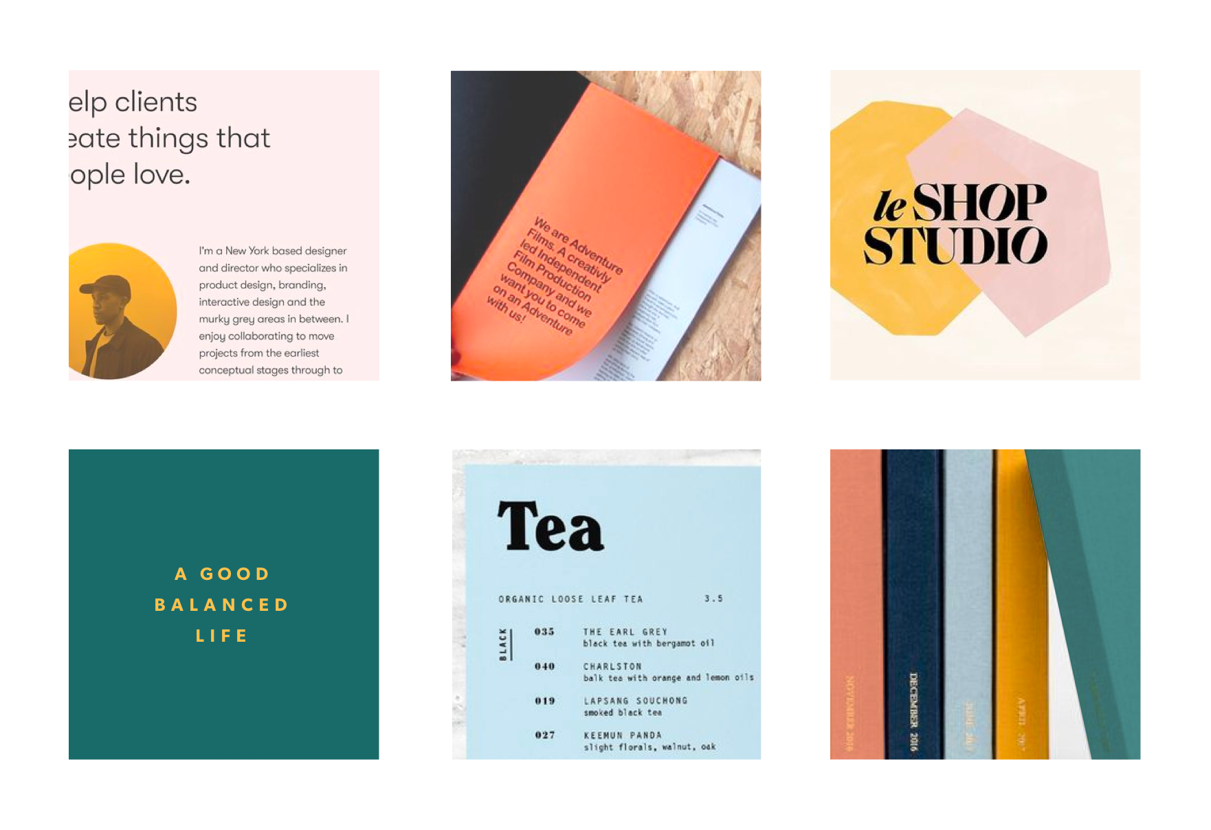 Moodboard for the Got Vitality brand redesign